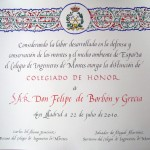 Colegiado de Honor ciudadano Felipe de Borbón y Grecia