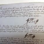 Partida de nacimiento de Miguel de Cervantes Saavedra